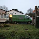 Our Dragon camper conversion parked at the rear of The Anglers Arms March 2017