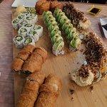 Sushi made vegan
