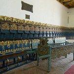 laterales de bancos con pan de oro