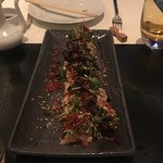 Salmon crispy spicy salad