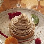 Dessert tartelette amandes et crème de marron un délice!!