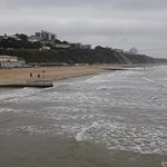 Bournemouth beach, short walk away from hotel.