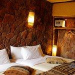 Chambre petite mais confortable et chaleureuse