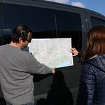 Mapping out our day in Dolomite Region