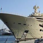 Mega yacht in the marina