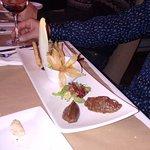 entrée foie gras avec dattes confites