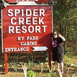 entrance to spider creek resort