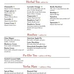 We have a large selection of Herbal Teas, Rooibos, Pu-Ehr and Yerba Mate teas.