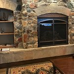 Fireplace area in the lobby