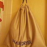 Hairdryer provided