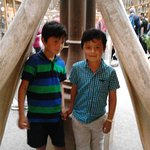 This is my grandsons at Pitt river museum