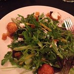 Beet and goat cheese salad! Yum!