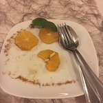 Sliced orange for desert....