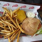 the cheese burger with house made fries and house made rolls