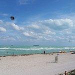 From the beach boardwalk