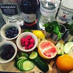 Garnishes for Gin varieties.