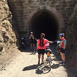 Otago Rail Trail on provided off road bikes
