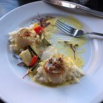 I ate one scallop before snapping this photo, they were great!