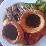 Lamb roast dinner. Delicious. Only improvement I would ask is home made Yorkies to compliment al