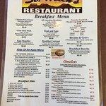 Breakfast menu side 1