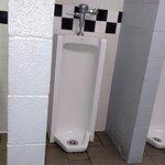 Unique throw-back urinal!