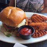Southwestern Burger with Sweet Potato Fries