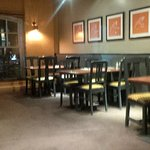 Empty tables but poor service
