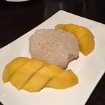 Sweet Coconut Sticky Rice with Mango