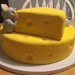 rear of cake