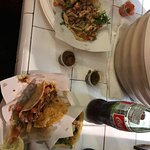 Cactus and chicken tacos