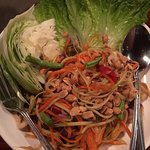Papaya salad, delicious but sooo spicy!