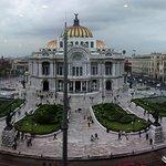 Palacio de Bellas Artes visto desde Sears