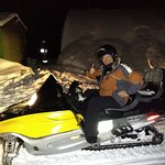 Night time snowmobiling tour to a wiener roast for dinner !! :)