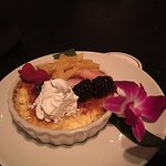 Creme Brulee with fresh fruit