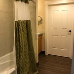 Awesome 1brm/2bath loft! Room is huge. 1 king bed, 1 queen sofa bed upstairs, 1 queen sofa bed d