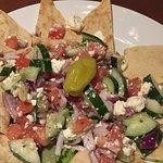 Pita Greek salad