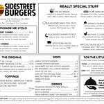 Here's our newest menu! Check out ssburgers.com or our Facebook page for our daily specials!
