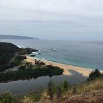 View over Waimea Bay from the Heiau