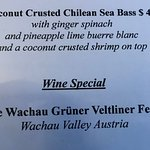A sample of the prices and a terrific wine special