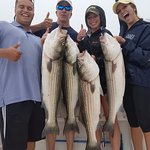 Great day of striper fishing!