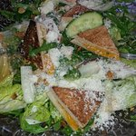 cheddar toast green salad