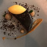 Malted chocolate cremeux
