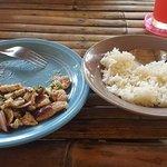 spicy BBQ pork (nam tok moo)