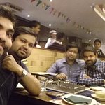 Celebrating holi with school friends