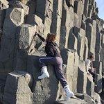 Basalt columns along the Reynisfjara (Black-Sand Beach), Vik, Iceland