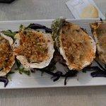 Huîtres gratinées ....