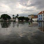 Fatahillah Square in rain