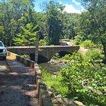 Stone bridge over Bloomfield Road river