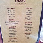 Great drink menu, lots of choices!