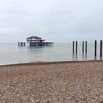 West Pier remains